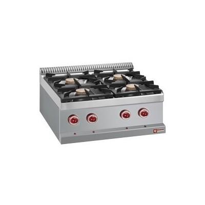 Cuisinière 4 feux gaz (4x 7kW)