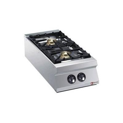 Cuisinière 2 feux vifs gaz (2x 10kW)