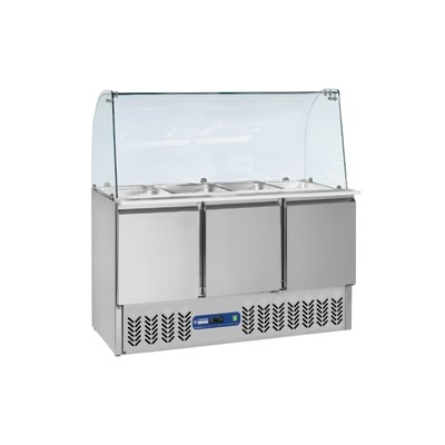 Saladette frigorifique 4x GN 1/1 - 150 mm