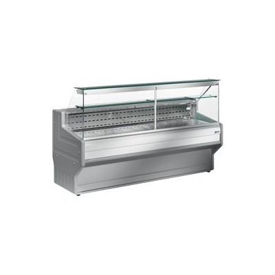 Comptoir vitrine réfrigéré à vitre droite 90°