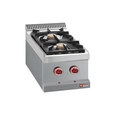 Cuisinière gaz 2 feux vifs (2x 7kW)