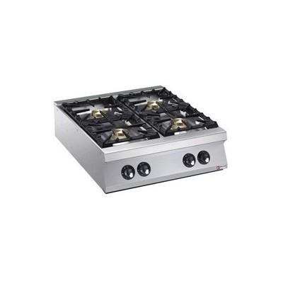 Cuisinière 4 feux vifs gaz (4x 10kW)